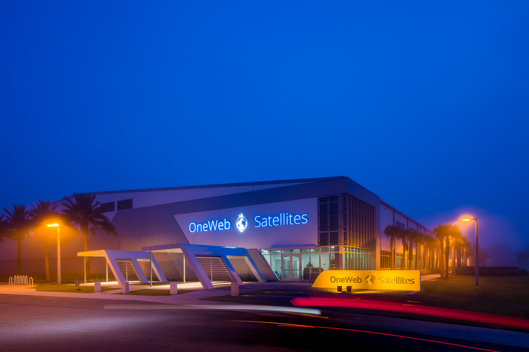 Exterior of OneWeb Satellites