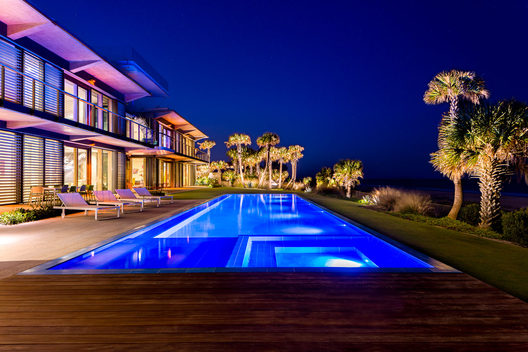 Luxury residential pool exterior