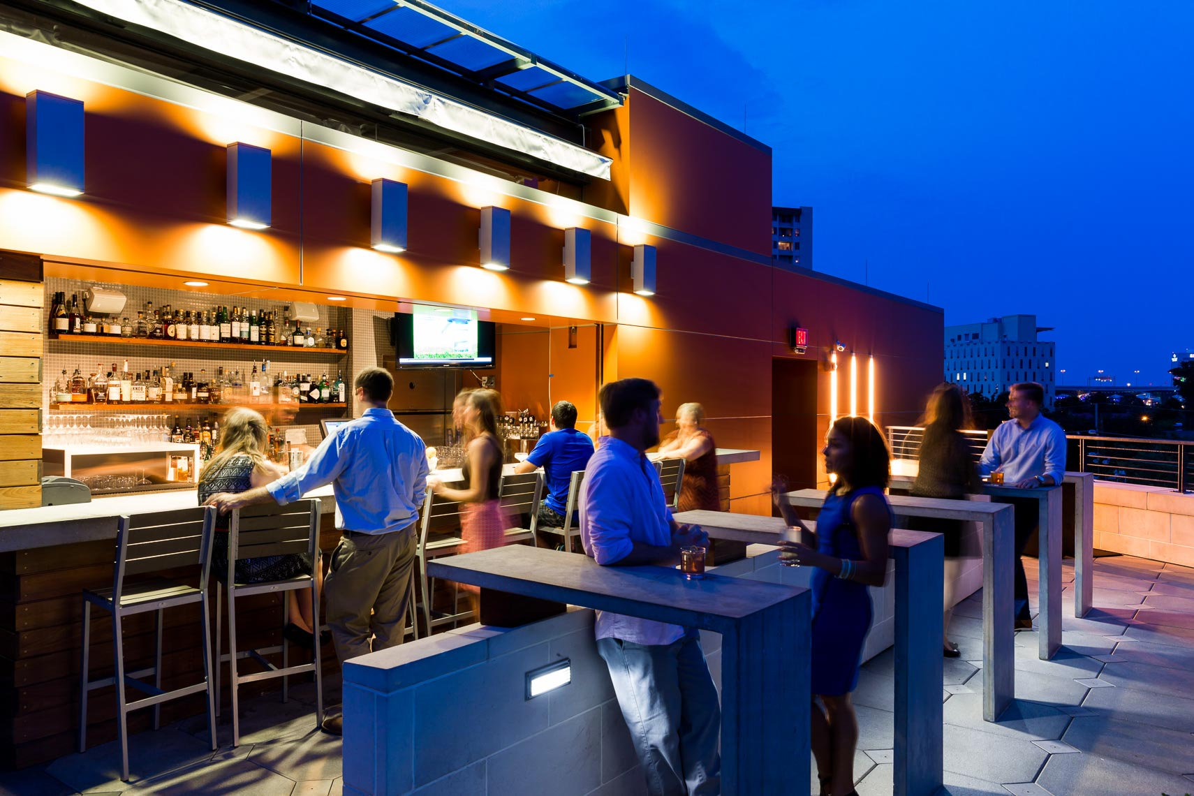 Rooftop Bar Architectural Exterior