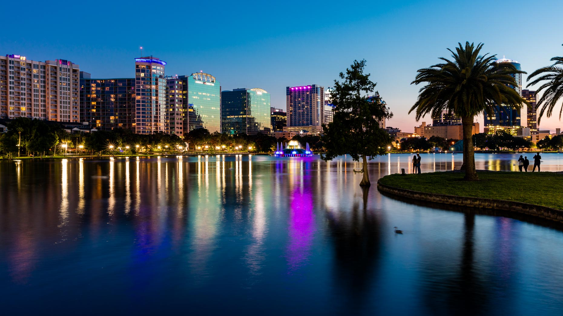 Cityscape of Downtown Orlando Florida