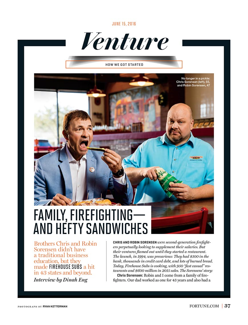 Firehouse Subs for Fortune Magazine