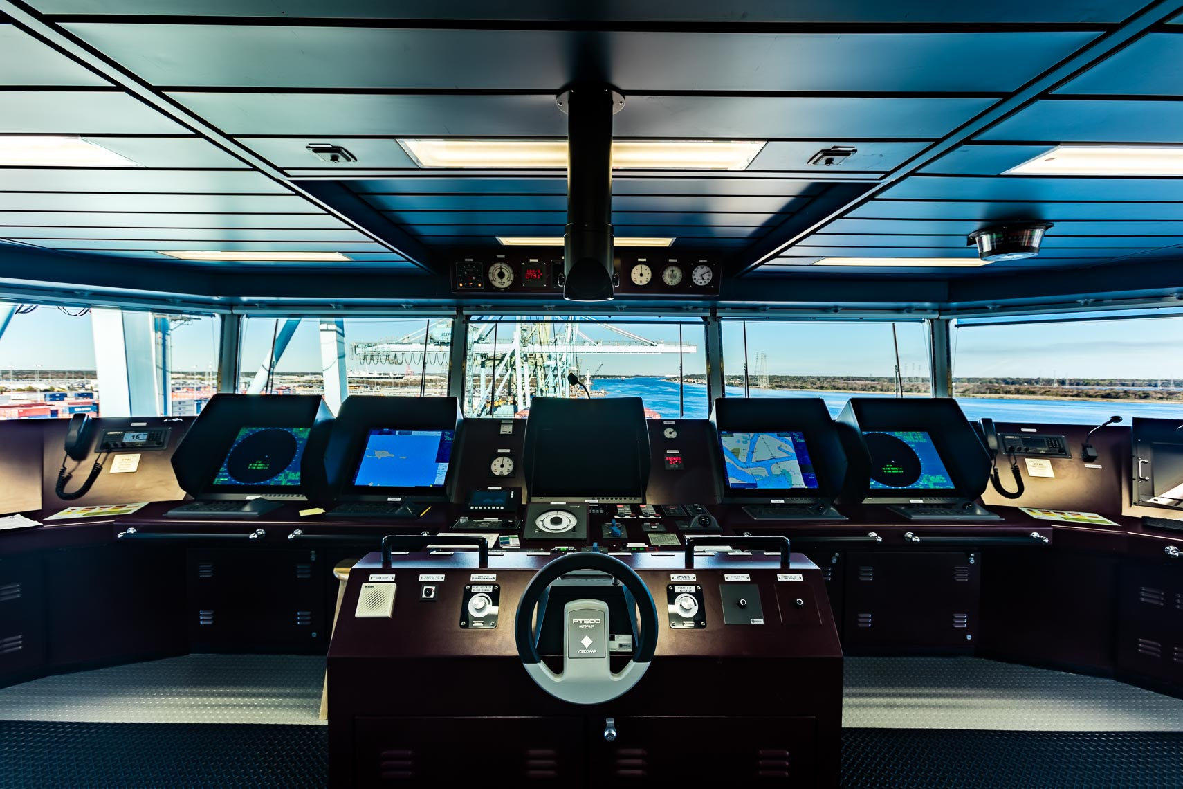 Inside a Shipping Vessel