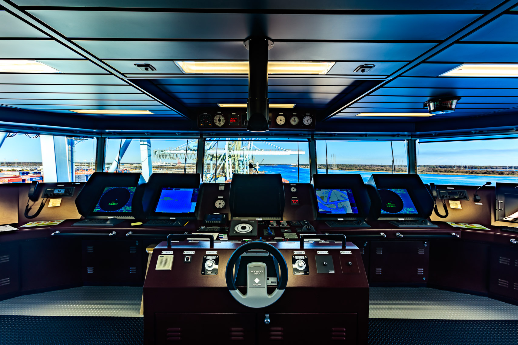 The Bridge of an LNG Ship