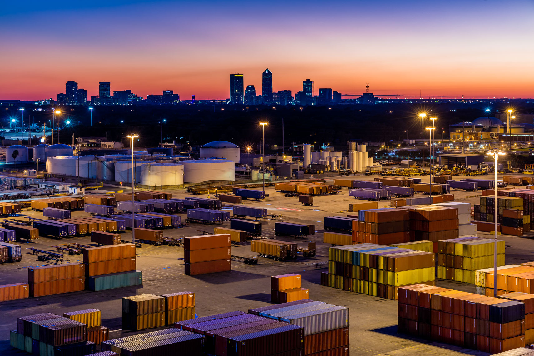 Shipping Containers and the Downtown Jacksonville Skyline