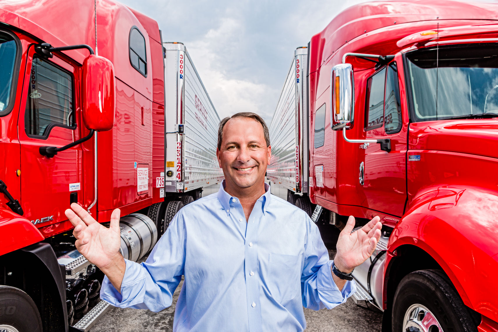 Executive Portrait at a trucking company