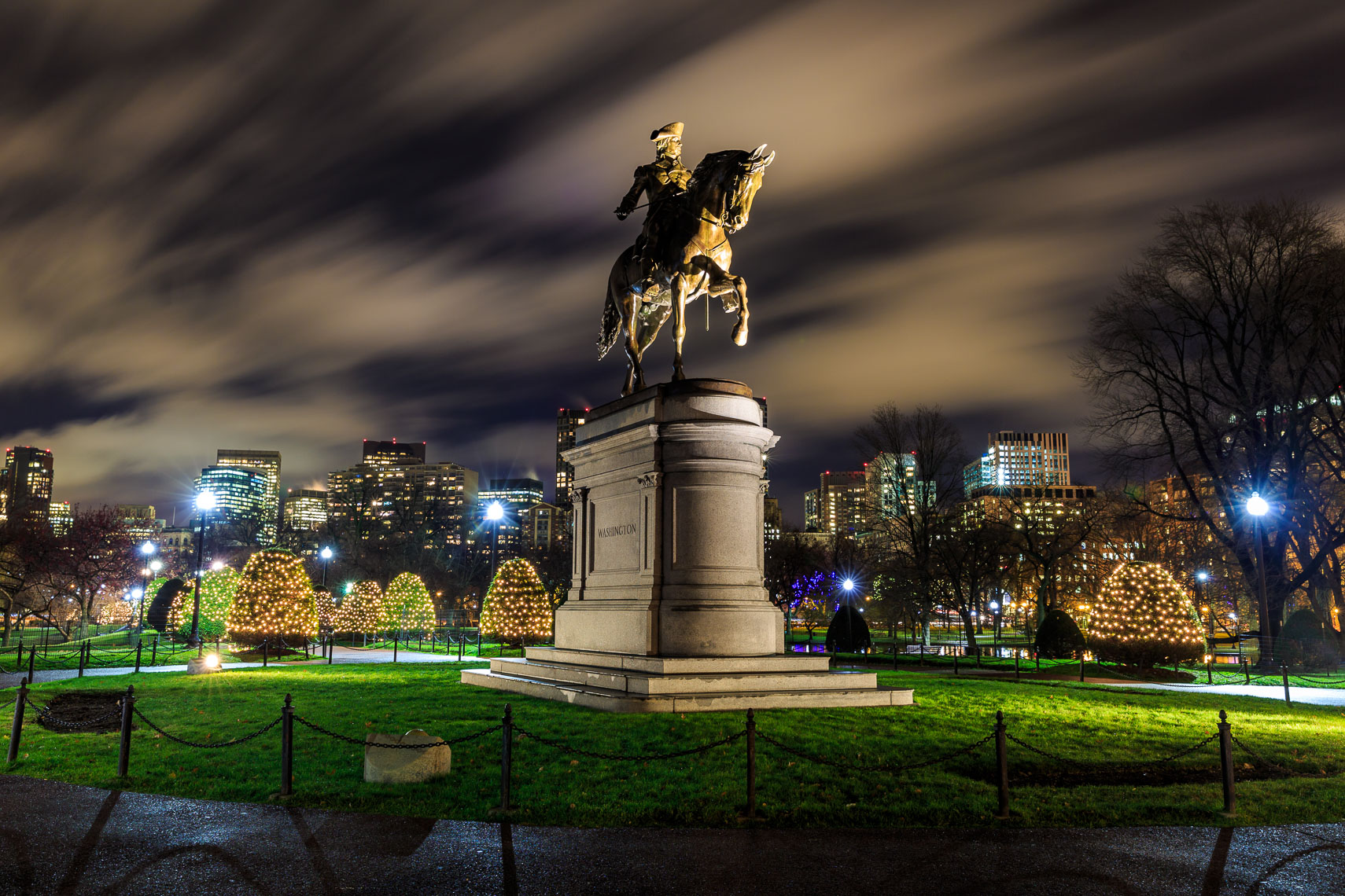 George Washington Statue in Boston