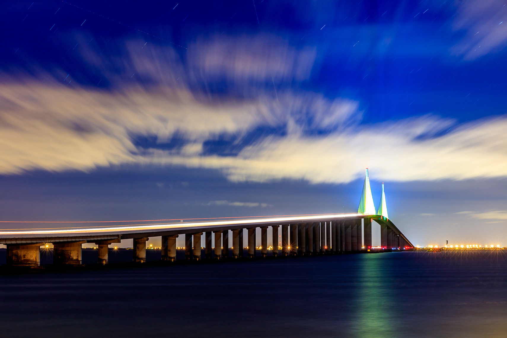 The Skyway Bridge at Night