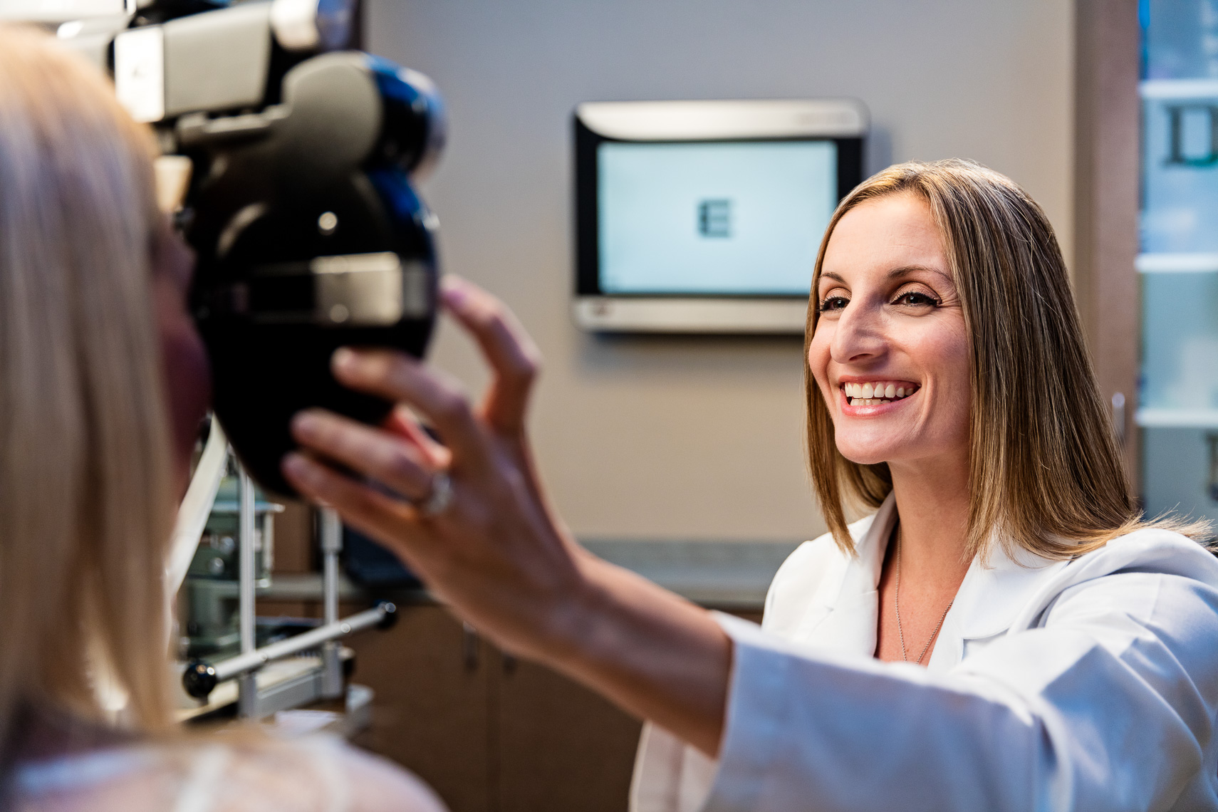 Female Eye Doctor Photography