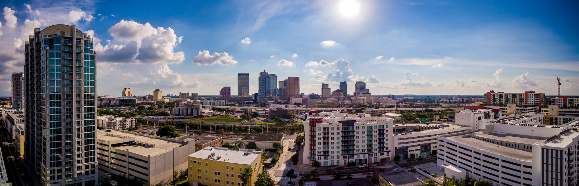 Drone photography of Tampa Florida