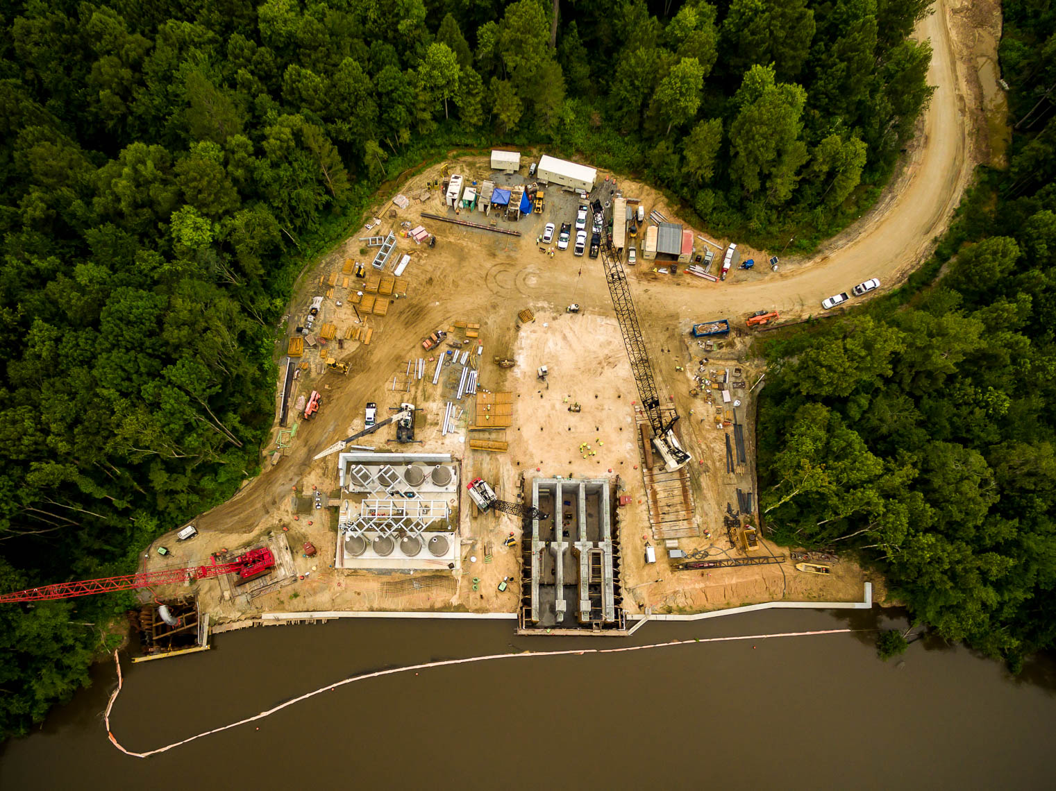 Drone Photo of Water Aeration Facility