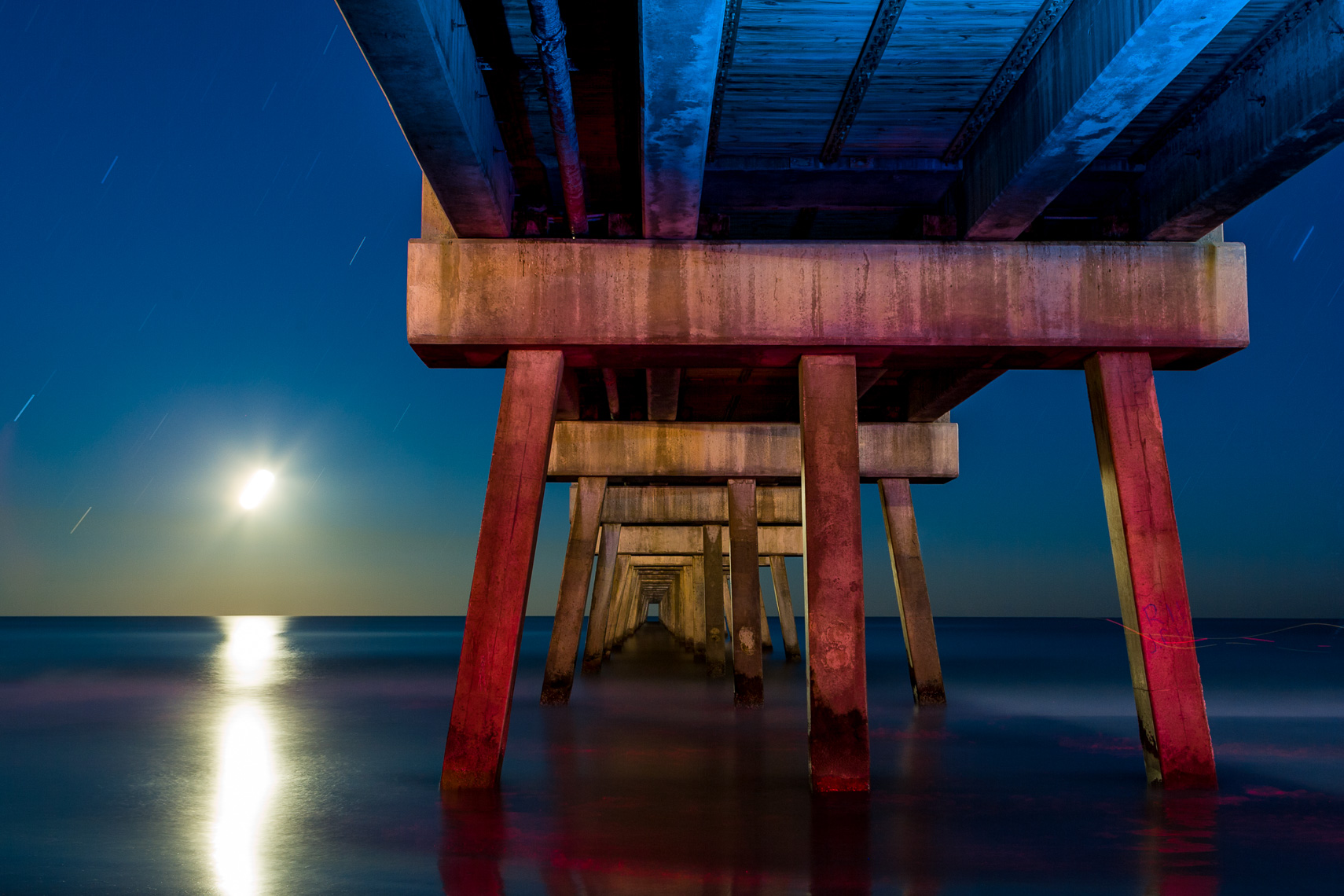 The Jacksonville Beach Pier at Night