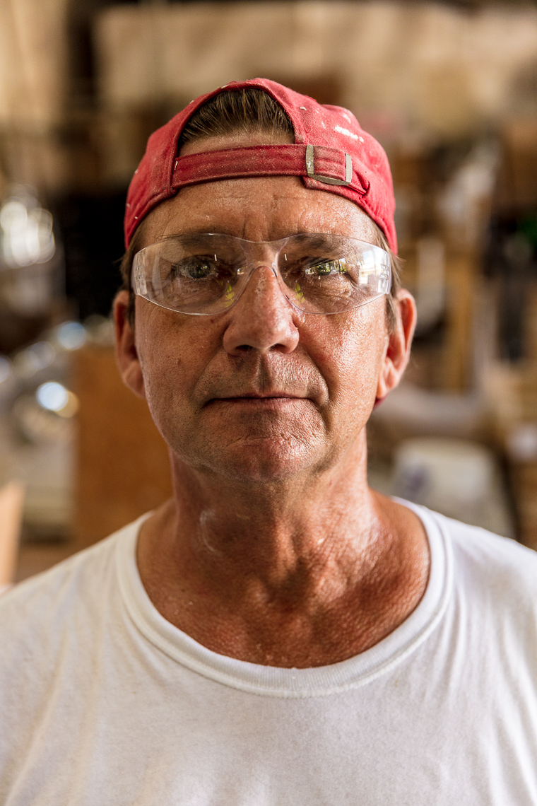 Portrait of an industrial manufacturing worker in Florida