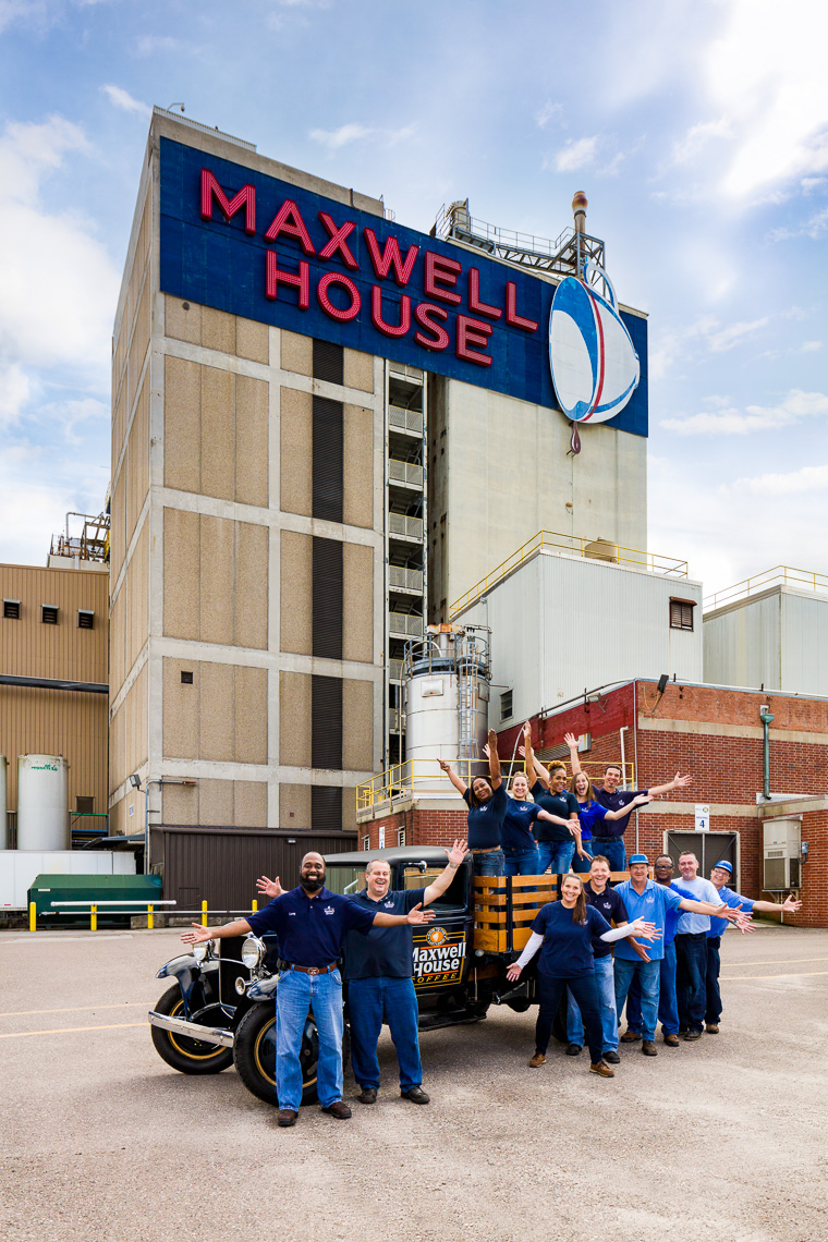 A group of employees at Maxwell House in Jacksonville Florida