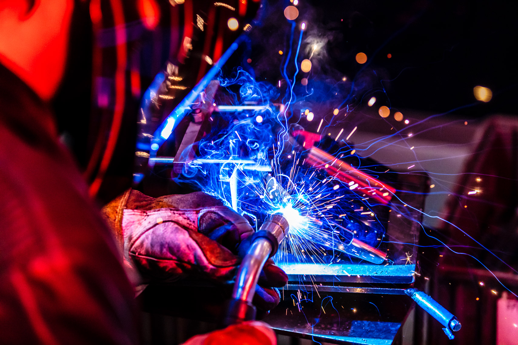 Industrial Welding Portrait