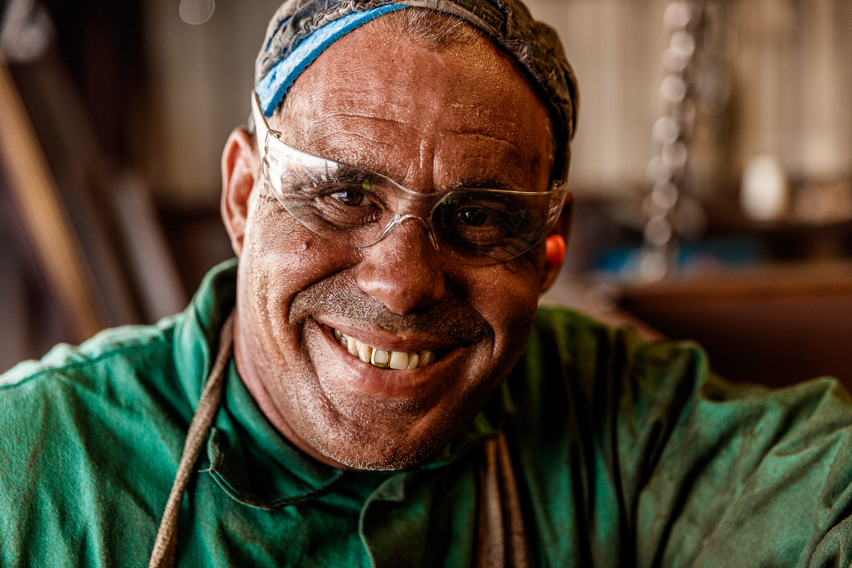 Portrait of a welder in Florida